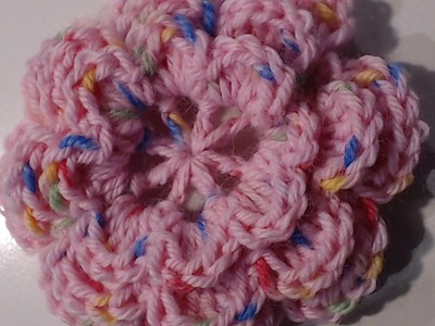 TUTORIAL FIORE A 8 PETALI IN 3D UNCINETTO - CROCHET