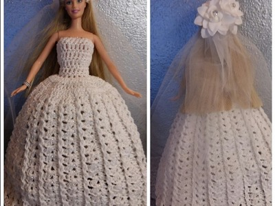 TUTORIAL N° 3 VESTITO DA SPOSA PER BARBIE ALL'UNCINETTO - crochet