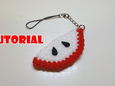 Tutorial Portachiavi ANGURIA all'uncinetto - crochet keychains watermelon - facile