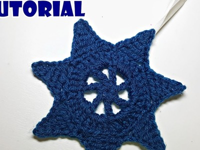 Tutorial STELLA decorativa all'uncinetto - crochet star home decor - facile