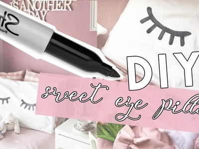 DIY SWEET EYE PILLOW with SHARPIE - Room Decor