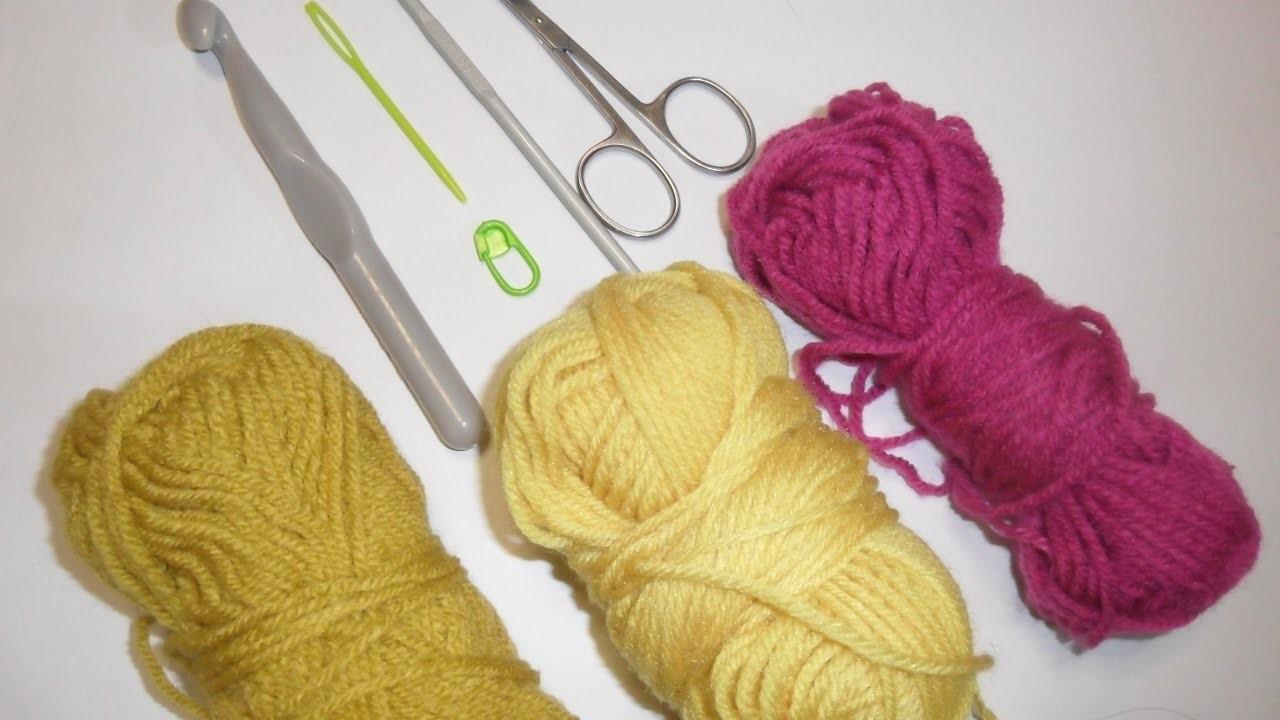 Impariamo l'uncinetto.Lezione 1(catenella,maglia bassa,maglia bassissima)