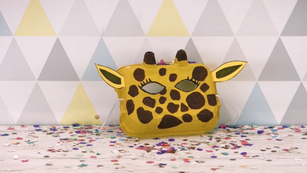 Tuto DIY Masque Girafe