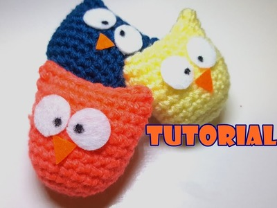 Tutorial - idea Bomboniera - Gufetti amigurumi - facile - easy - little owls