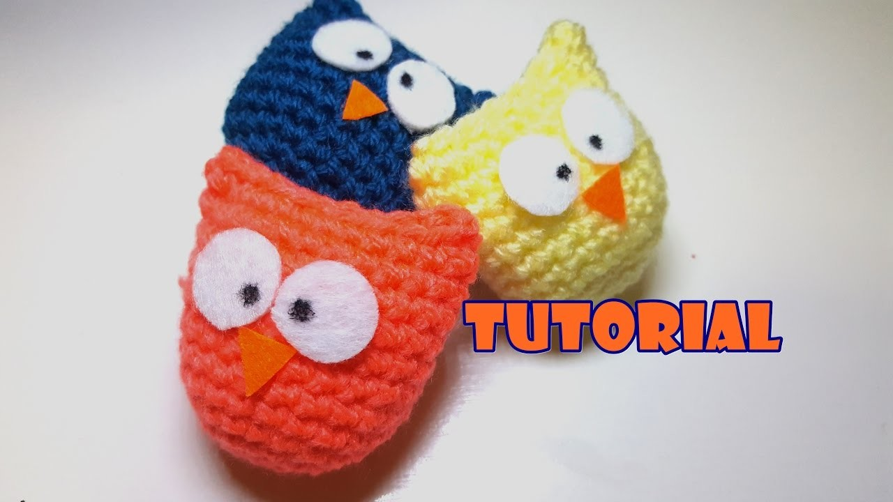 Tutorial - idea Bomboniera - Gufetti amigurumi - facile - easy - little owls