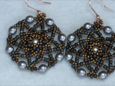 Tutorial orecchini Cinzia. incastonatura di una perla da 8mm+decorazione