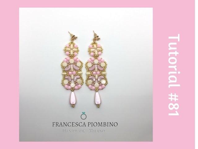 TUTORIAL PERLINE [81] - Orecchini Susanna: honeycombs, arcos e minos, rulla, bicono 4mm e rocailles