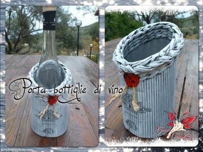 Porta bottiglia di vino (chiusura esclusa)