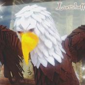Aquila in feltro.