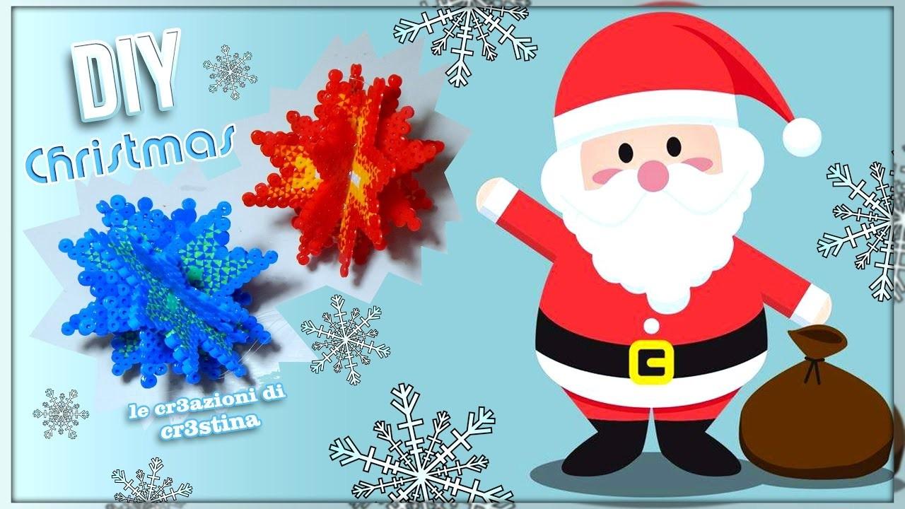 Addobbi 3d per l'Albero di Natale con Perline HAMA BEADS.PYSSLA - DIY Christmas Ornaments