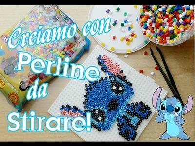 Creiamo Stitch. con le PERLINE DA STIRARE. hama Beads .