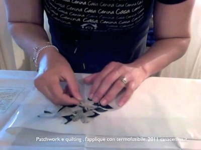 Patchwork e quilting, l'appliqué con termofusibile (XV)