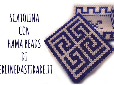 Scatolina con le HAMA  BEADS ORIGINALI di Prelinedastirare.it  e GIVEAWAY (Arte per Te)