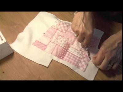 Tutorial: Presina fatta con patchwork con punto zig-zag
